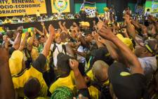 ANC members from multiple regions sing and dance inside the plenary before proceedings began. Picture: Thomas Holder/EWN.