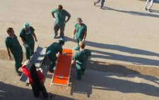 Medical personnel on standby, waiting for patients to arrive after the town of Knayst Nakla was shelled in Syria. Picture: Rahima Essop/EWN.