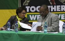 FILE: ANC's Gwede Mantashe & Jessie Duarte says they're deeply worried about how Madonsela's Nkandla letter to President Jacob Zuma was leaked to the media. Picture: Reinart Toerien/EWN