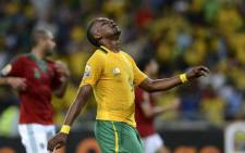 South Africa's forward Katlego Mphela. Picture: AFP