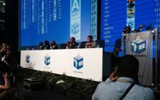 IEC chair Pansy Tlakula during a briefing at the IEC results centre in Pretoria on 9 May 2014. Picture: Sebabatso Mosamo/EWN.