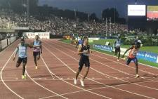 SA sprinter Wayde van Niekerk cruises to victory in the 400m at the Diamond League meet in Lausanne on 6 July 2017. Picture: @Diamond_League/Twitter