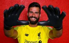 Liverpool goalkeep Alisson Becker. Picture: Twitter/@LFC