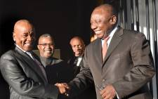 Deputy President Cyril Ramaphosa meeting with Lesotho's Prime Minister Thomas Thabane at the State house in Maseru as part of SADC fascilitation efforts. Picture: GCIS