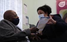 Emeritus Archbishop Tutu gets Covid-19 vaccine at Brooklyn Chest Hospital in Milnerton. Image: Western Cape Government