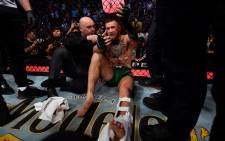 Conor McGregor suffered an injury to his lower tibia in his Saturday, 10 July fight against Dustin Poirier and was expected to undergo surgery on Sunday to repair the damage. Picture: Twitter/@UFCEurope