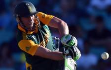 FILE: Proteas captain AB de Villiers plays a shot during the 2015 Cricket World Cup Pool B match between South Africa and the West Indies at the Sydney Cricket Ground on February 27, 2015.  Picture: AFP