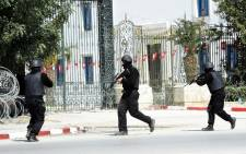Tunisian security forces secure the area after gunmen attacked the famed Bardo Museum on 18 March, 2015. Picture: AF