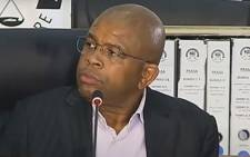 A screengrab of former Passenger Rail Agency of South Africa (Prasa) CEO Lucky Montana appearing at the state capture inquiry on 10 May 2021. Picture: SABC/YouTube