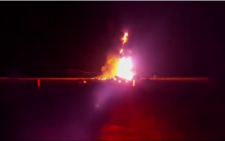 Screengrab of a fuel tanker that caught fire on the R54 between Potchefstroom and Parys on Friday, 10 October.