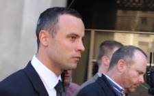 FILE: Oscar Pistorius leave the High Court in Pretoria after a brief court appearance on 14 May 2014. Picture: Christa Eybers/EWN.