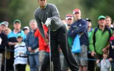 US golfer Tiger Woods watches his during the JP McManus Invitational Pro-Am golf tournament in Limerick, Ireland. Picture: AFP