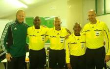 (In the middle) Former international referee Jerome Damon. Picture: Facebook.