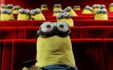 Fluffy minions were placed strategically around the auditorium to enforce a rule that viewers leave at least one place free between them and their neighbours. Picture: Twitter/mk2