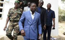 Togolese President Faure Gnassingbe and candidate of the ruling Union for the Republic (UNIR) party leaves a polling station after casting his vote in Kara, on 22 February 2020, during the presidential elections. Picture: AFP