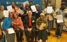 Cape Town Mayor Patricia de Lille handed over title deeds to Nomzamo residents on 20 June 2016. Picture: @PatriciaDeLille.