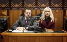 FILE: AfriForum's Ernst Roets and Monique Taute make oral submission before Parliament's constitutional review committee on 6 September 2018. Picture: @afriforum/Twitter