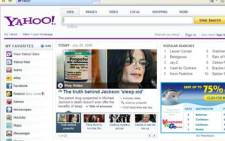 Yahoo Inc web page. Picture: Eyewitness News