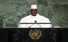 President of the Gambia Yahya Jammeh addressing United Nations General Assembly. Picture: United Nations.