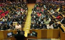 FILE: President Cyril Ramaphosa delivers the State of the Nation Address on 20 June 2019. Picture: GCIS