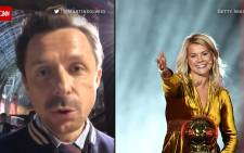 A combination pic of Ballon d'Or host Martin Solveig (left) and women's award winner Ada Hegerberg (right).