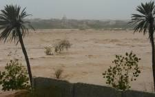 A cyclone has triggered heavy flooding, resulting in severe damage in parts of Yemen. Picture: @saeedalBatati