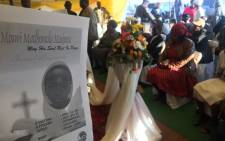 Funeral service of Matlhomola Moshoeu in Coligny. Picture: Hitekani Magwedze/EWN.