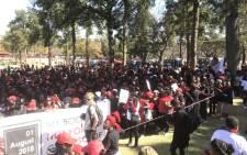 Women making their way to the Union Buildings in Pretoria. Picture: Thando Kubheka/EWN