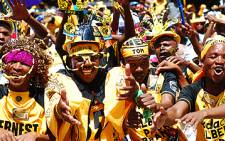 Kaizer Chiefs supporters at the Soweto derby on 20 February, 2010. Picture: Taurai Maduna/Eyewitness News