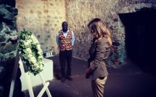 FILE: US first lady Melania Trump reflects after laying a wreath at a slave fortress on the coast of Ghana on 3 October 2018. Picture: @FLOTUS/Twitter