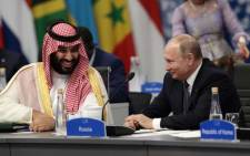 Saudi Arabia's King Salman bin Abdulaziz(L) and Russia's President Vladimir Putin attend the G20 Leaders' Summit in Buenos Aires, on 30 November 2018. Global leaders gather in the Argentine capital for a two-day G20 summit beginning on Friday likely to be dominated by simmering international tensions over trade. Picture: AFP
