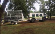 Police set up a perimeter outside the Union Buildings in Pretoria ahead of an anti-Zuma march. Picture: Thando Kubheka/EWN