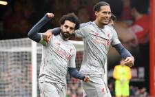 Liverpool's Mo Salah and Virgil van Dijk celebrate a goal. Picture: @LFC/Twitter