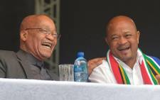 President Jacob Zuma and former KZN Premier Senzo Mchunu. Picture: The KZN Office of the Premier Facebook page.