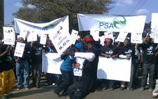 FILE: Members of the Public Servants Association (PSA) protest in Pretoria. Picture: Eyewitness News.