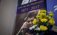 Banners were erected at the FH Odendaal High School in Pretoria for the late Springbok star Joost van der Westhuizen's memorial service on 9 February 2017. Picture: Reinart Toerien/EWN.