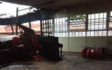A gutted classroom at the Northway Primary School in Ravensmead following a fire. Picture: Kevin Brandt/EWN