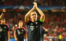 Bayern Munich captain Philipp Lahm thanks the fans after the team's win against Benfica in the Champions League on 13 April 2016. Picture: Bayern Munich official Facebook page.
