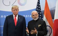 FILE: US President Donald Trump listens to India's Prime Minister Narendra Modi during a meeting in the sidelines of the G20 Leaders' Summit in Buenos Aires, on 30 November 2018. Picture: AFP