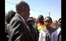 FILE: Johannesburg Mayor Herman Mashaba (L) and suspended MMC for health Mpho Phalatse (R). Picture: @mphophalatse1/Twitter.