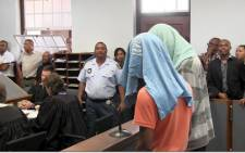 Two men appeared in the Bredasdorp Regional Court on 12 February 2013 in connection with Anene Booysen's gang rape and murder. Picture: Renee de Villiers/EWN.
