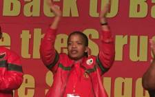 New Cosatu president Zingiswa Losi at the trade federation's 13th national congress. Picture: @_cosatu/Twitter