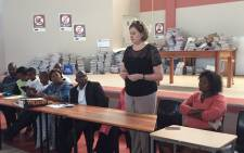 Western Cape Education MEC Debbie Schafer during a visit at school in Crossroads. Picture: Monique Mortlock/EWN.