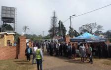 Mourners have gathered outside AmaZulu King Goodwill Zwelithini's home in Nongoma, in northern KwaZulu-Natal, where his memorial service is scheduled to be held on 18 March 2021. Picture: Nkosikhona Duma/Eyewitness News.