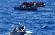 The Italian Navy rescued migrants off its coast on 23 June 2016. Picture: @ItalianNavy
