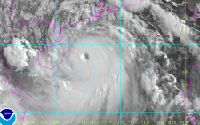The immensely powerful Super typhoon Rammasun in the South China Sea. Picture: Twitter, James Reynolds.