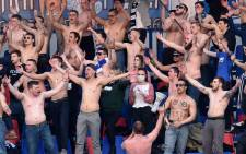 Fans of FC Minsk support their team during the Belarus Championship football match between FC Minsk and FC Dinamo-Minsk in Minsk, on 28 March 2020. Picture: AFP