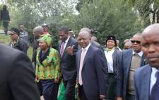 ANC NEC members and members of the party's top six arrive at the Soweto home of the late Winnie Madikizela-Mandela on 5 April 2018 to pay their last respects to the party stalwart. Picture: Christa Eybers/EWN