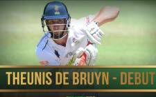 A screengrab of Theunis de Bruyn. Picture: Twitter/@OfficialCSA.