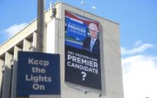 The Democratic Alliance on 23 April 2019 unveiled a billboard of its Western Cape premier candidate. Picture: Cindy Archillies/EWN